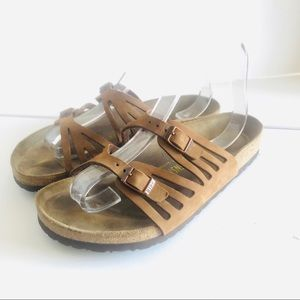 Birkenstock chestnut Granada shoes 40